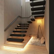 Лестница на металлокаркасе №14