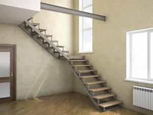 Лестница на металлокаркасе №13